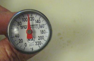 Checking the milk's temperature