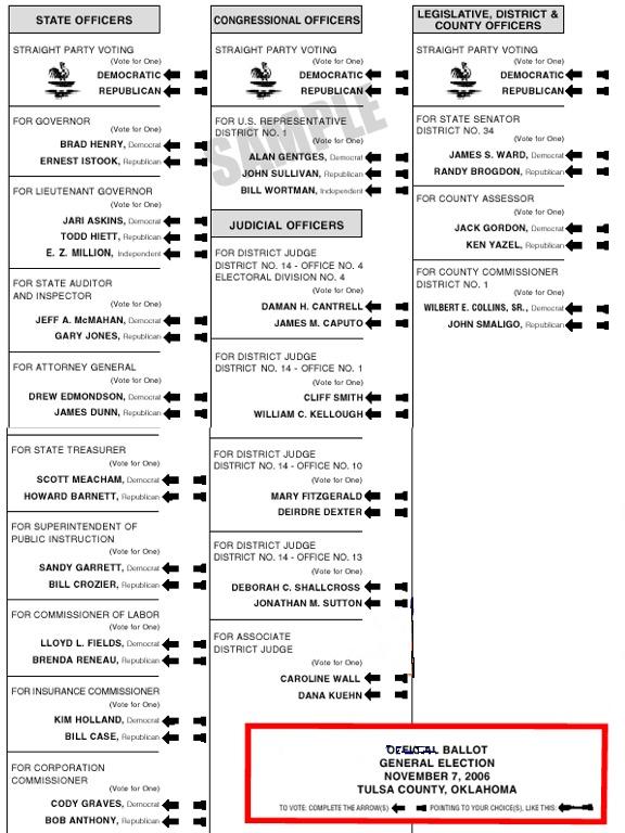 ballot sample utah