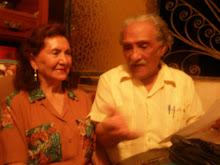 Leoncio Bueno y su compañera Blanquita