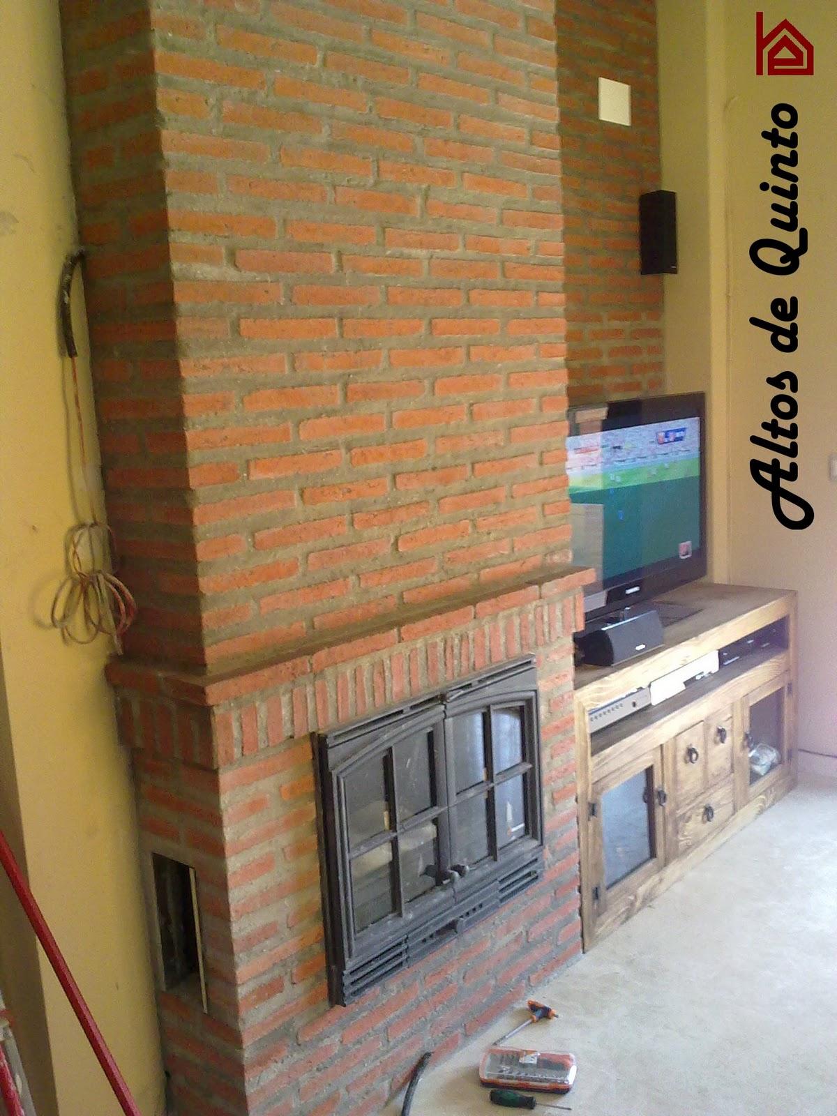 Altos de quinto revestido de chimenea con ladrillo taco - Chimenea ladrillo ...
