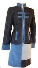 Conjunto brocado de lana y franela