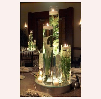Lisa Scully Events Wedding Flowers Submerged Centerpieces