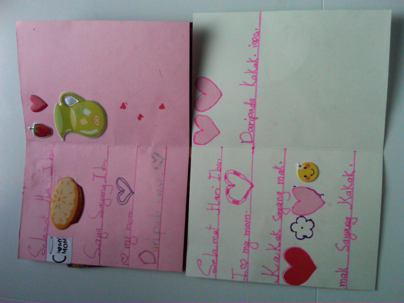 kad ucapan sempena hari ibu yang diberi oleh anakku syamimi syamilah ...