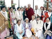 grandmothers with Dalai Lama