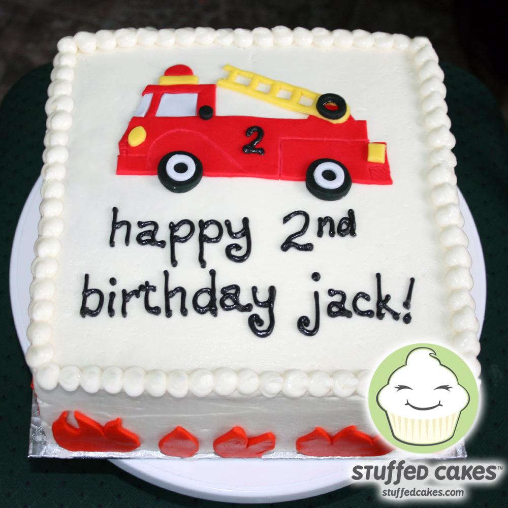 Stuffed Cakes Fire Truck Cake