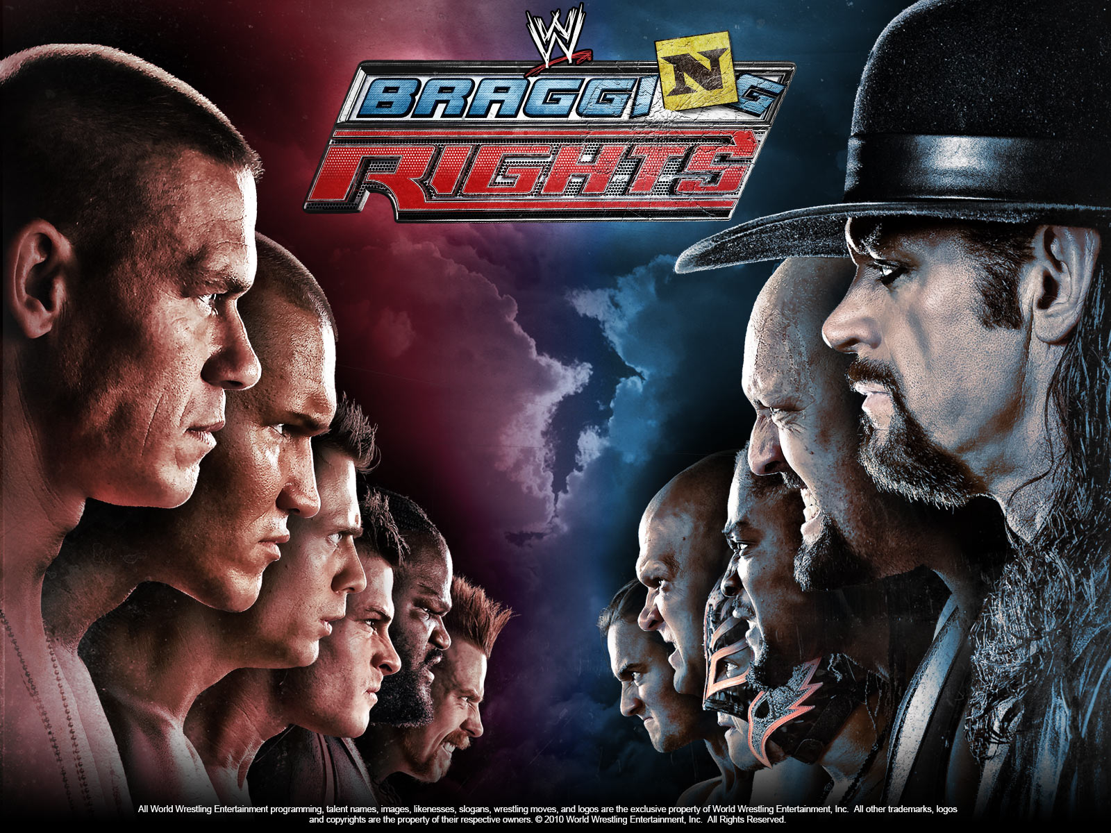 WWE WWE Bragging Rights 2010 , WWE wallpapers