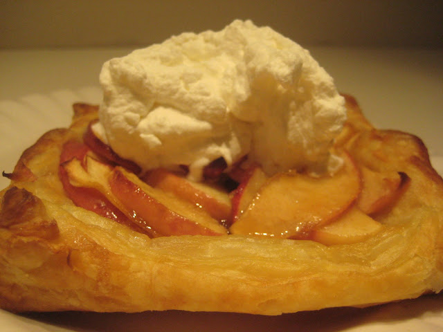 ... finish them off with some freshly whipped cream, laced with Calvados