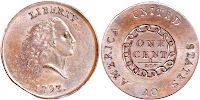 1793 Flowing Hair Chain Penny