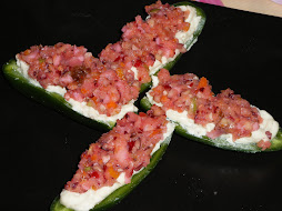 Mattye's Cranberry-topped Cheeze stuffed Jalapenos!