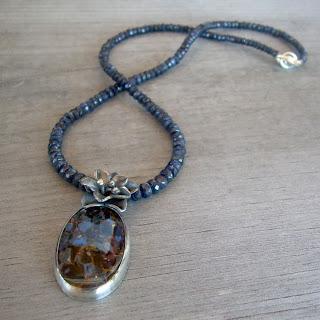 floral sapphire necklace