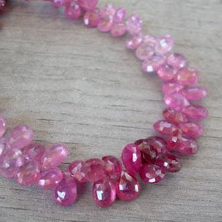 pink tourmaline beads