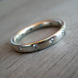 moissanite engagement band