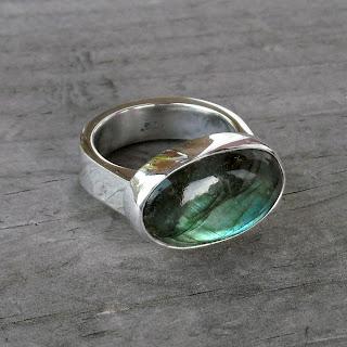 chunky labradorite ring