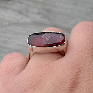 pink tourmaline cocktail ring