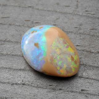 blue orange opal