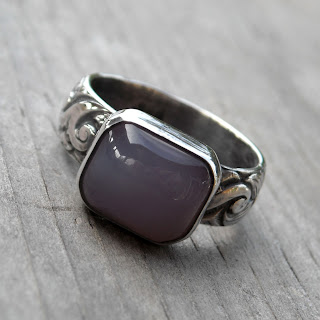holly chalcedony ring