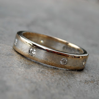 moissanite wedding band
