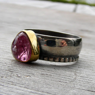 pink tourmaline gold