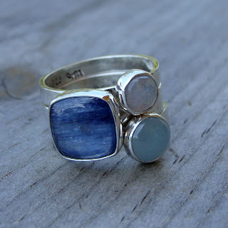 blue stacking rings