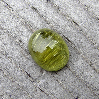 green tourmaline cab