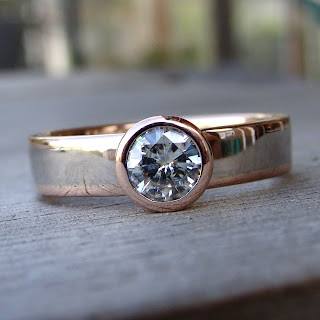 rose gold moissanite
