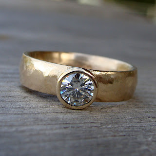 moissanite gold ring