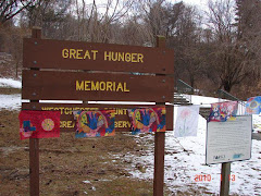 "belfastflags at the ""Great Hunger"" Memorial in Westchester County."