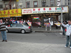 Flags at China Town New York