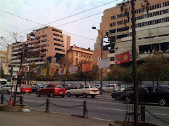 The bombed army headquarters in Belgrade
