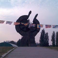 At peace monument Belgrade