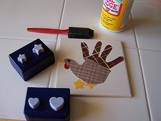 Turkey handprint Trivets