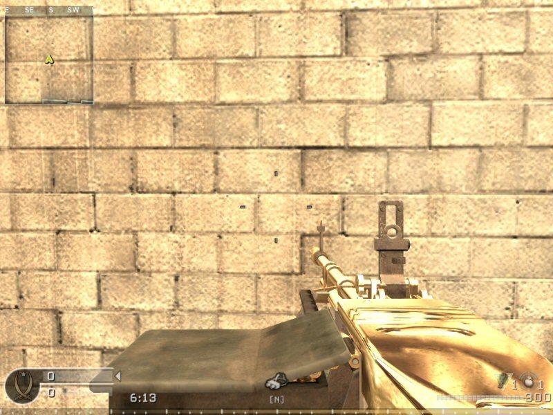 call of duty 4 gold guns