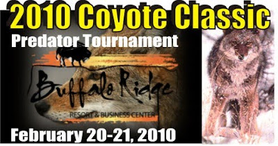 2010 Coyote Classic Predator Tournament, Feb 20-21, Buffalo Ridge Resort, Gary, SD