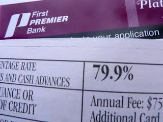 Premier Bank Card Offer: 79.9% interest
