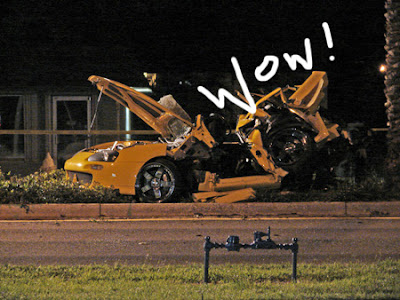 Nick Hogan's crashed car