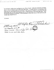 page 7 of minister Andy Drossos's  Agreement with Dave Hall