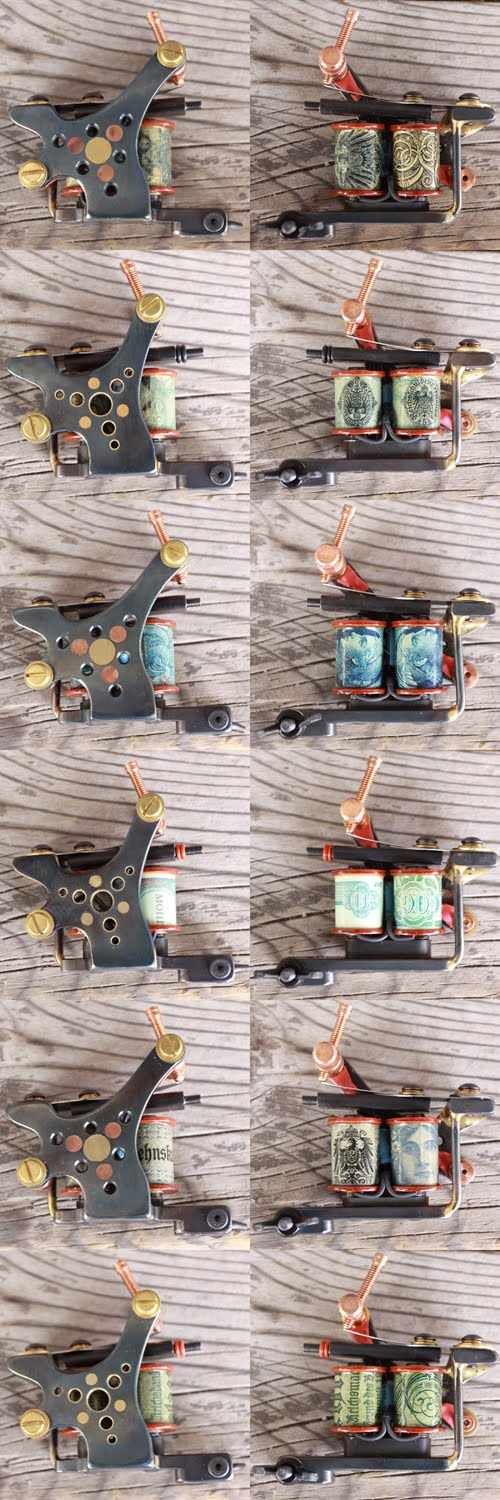 Tattoo machines for sale. I did a small run of tattoo machines this month.