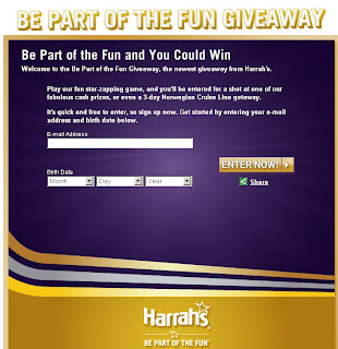 Harrah's Be Part of the Fun Giveaway at Playtotalrewards.com