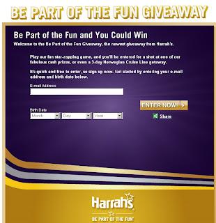 Harrah's Be Part of the Fun Giveaway at Playtotalrewards.com
