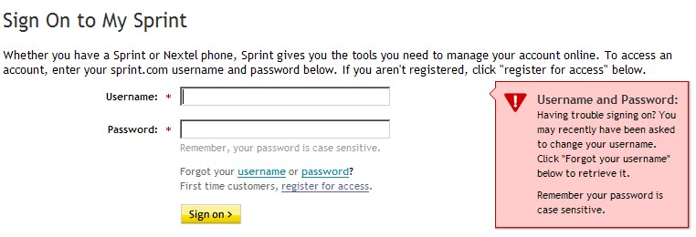 Pay Your Sprint Bill Online  letmeget.com