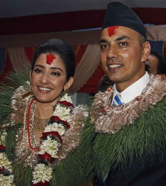 Manisha Koirala Marriage Pictures