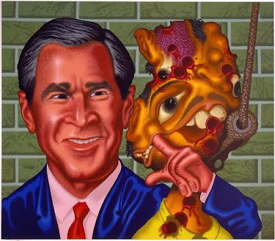 Bush at Abu Ghraib by Peter Saul