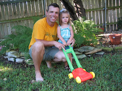 "Daddy and Skyler ""Mowing"""