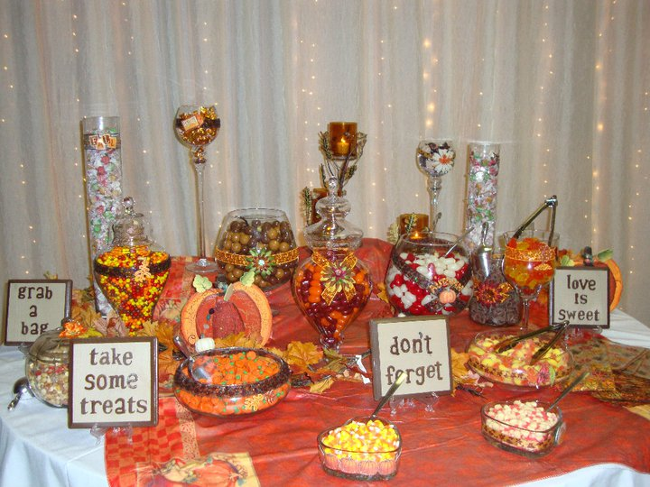 A gorgeous FALL candy buffet