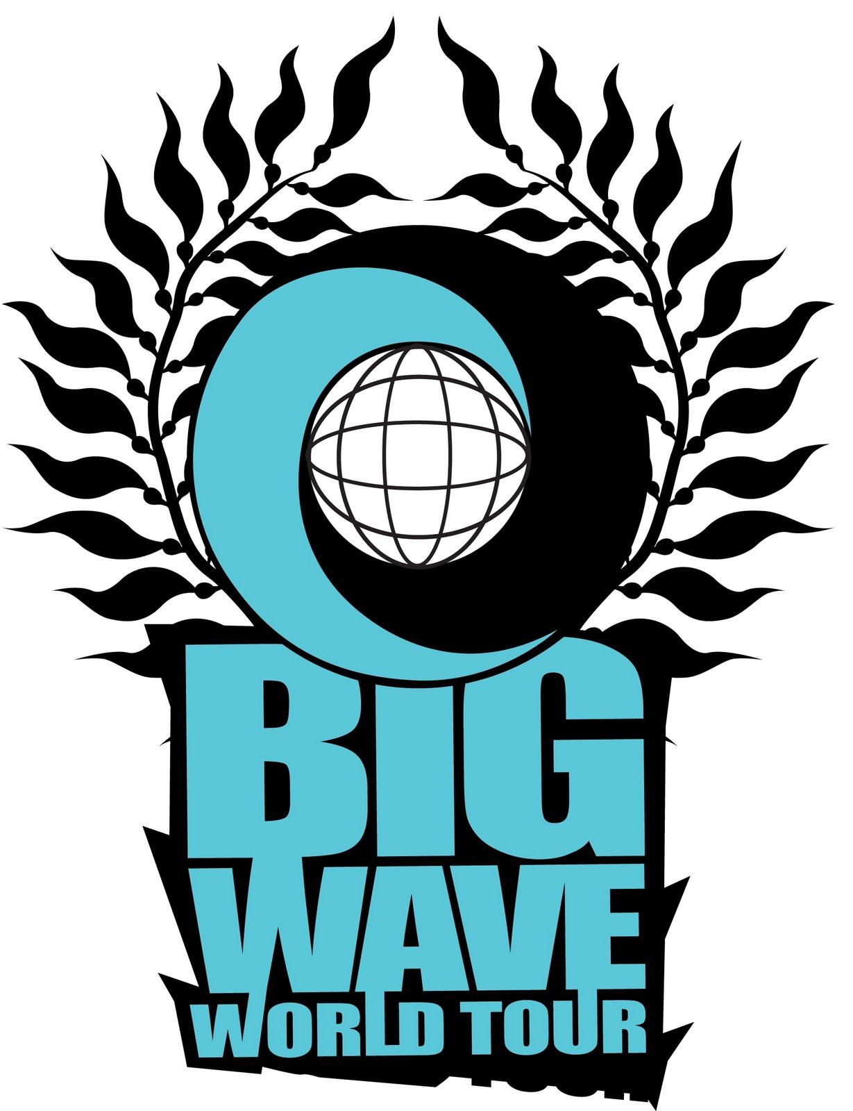 big wave world tour wave logo black wave logo black