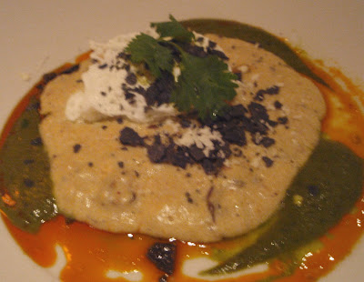 Paleo Wild Mushroom Grits with Poached Eggs and Serrano Chile Sauce ...