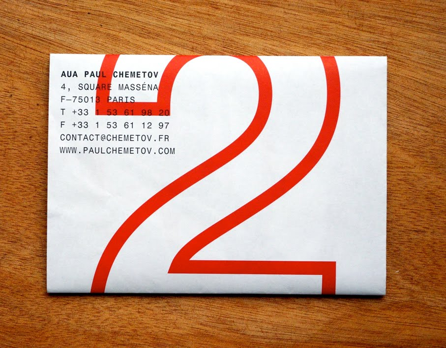 new years card for the architecture agency auapaul chemetov