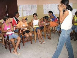 Cristiane, parceira no projeto