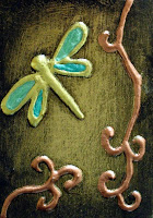 Green Zen Dragonfly by KathyMartinStudio