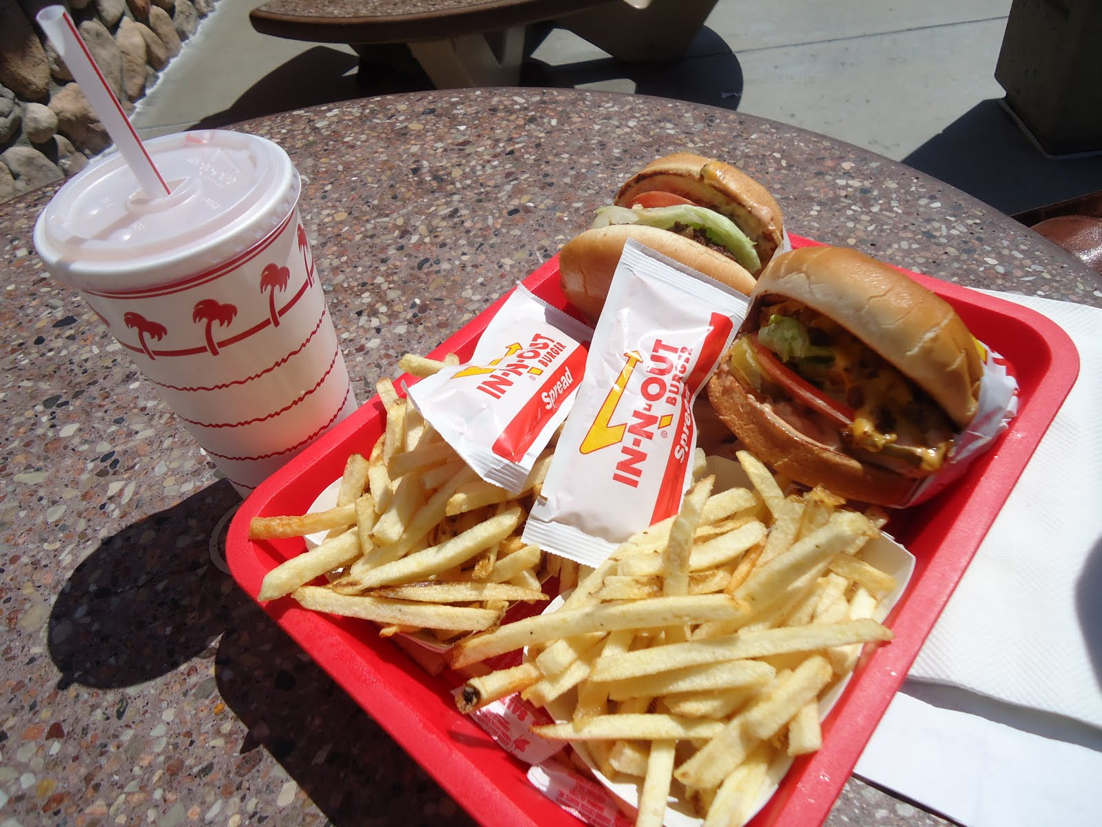 In and Out baby! Mmmm...with extra special sauce = deliciousness.